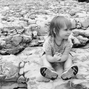 Elisa on the rocks at Grand