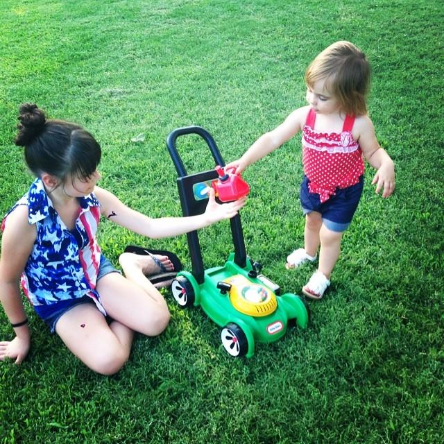 Gassin' up the mower