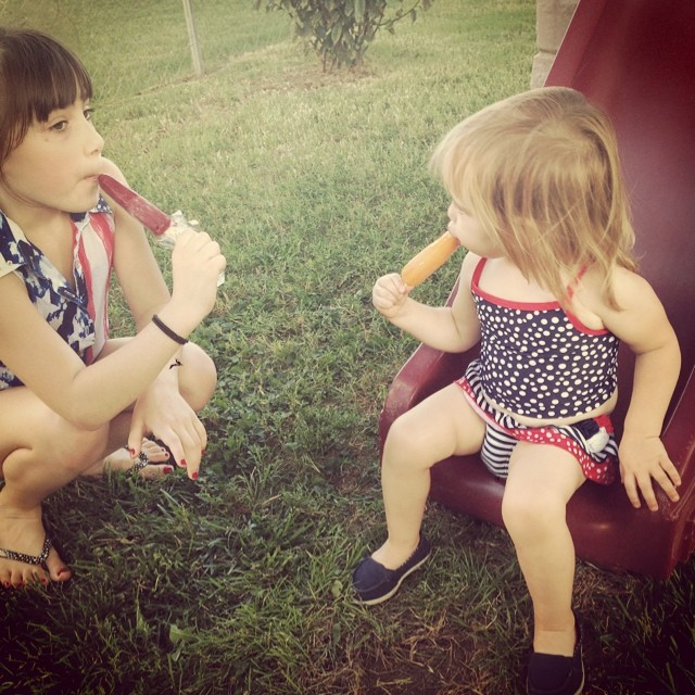 Popsicles with Ella