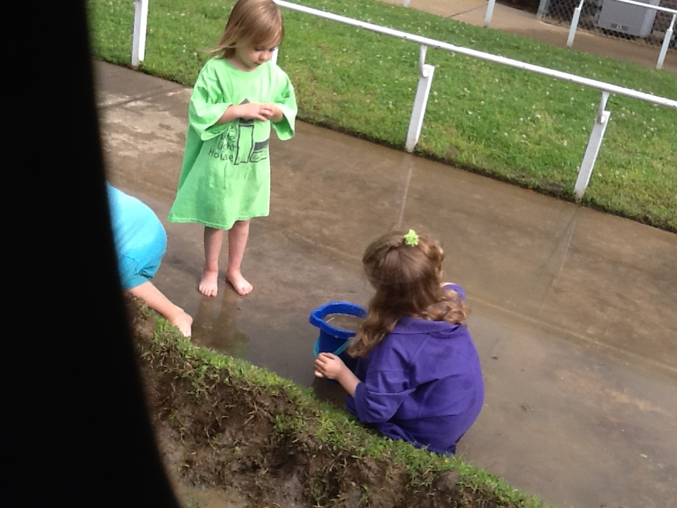 Playing in the water in SKIP 3